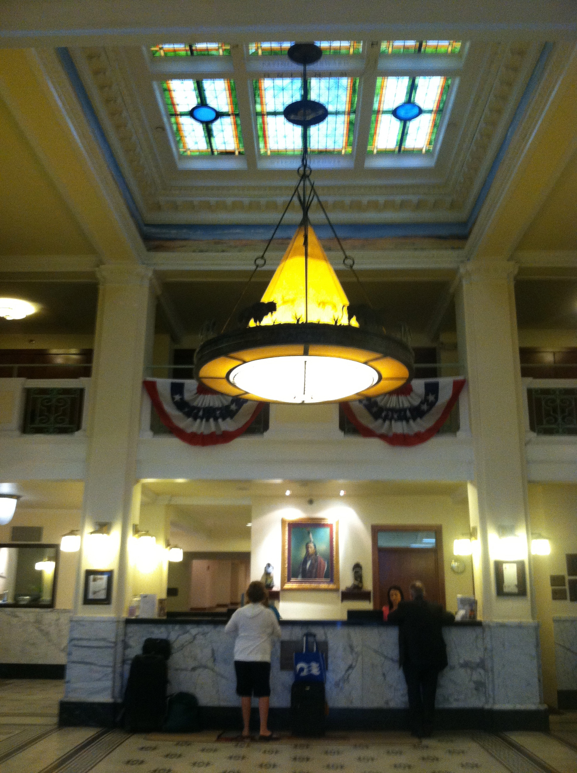 The lobby of The Historic Plains Hotel