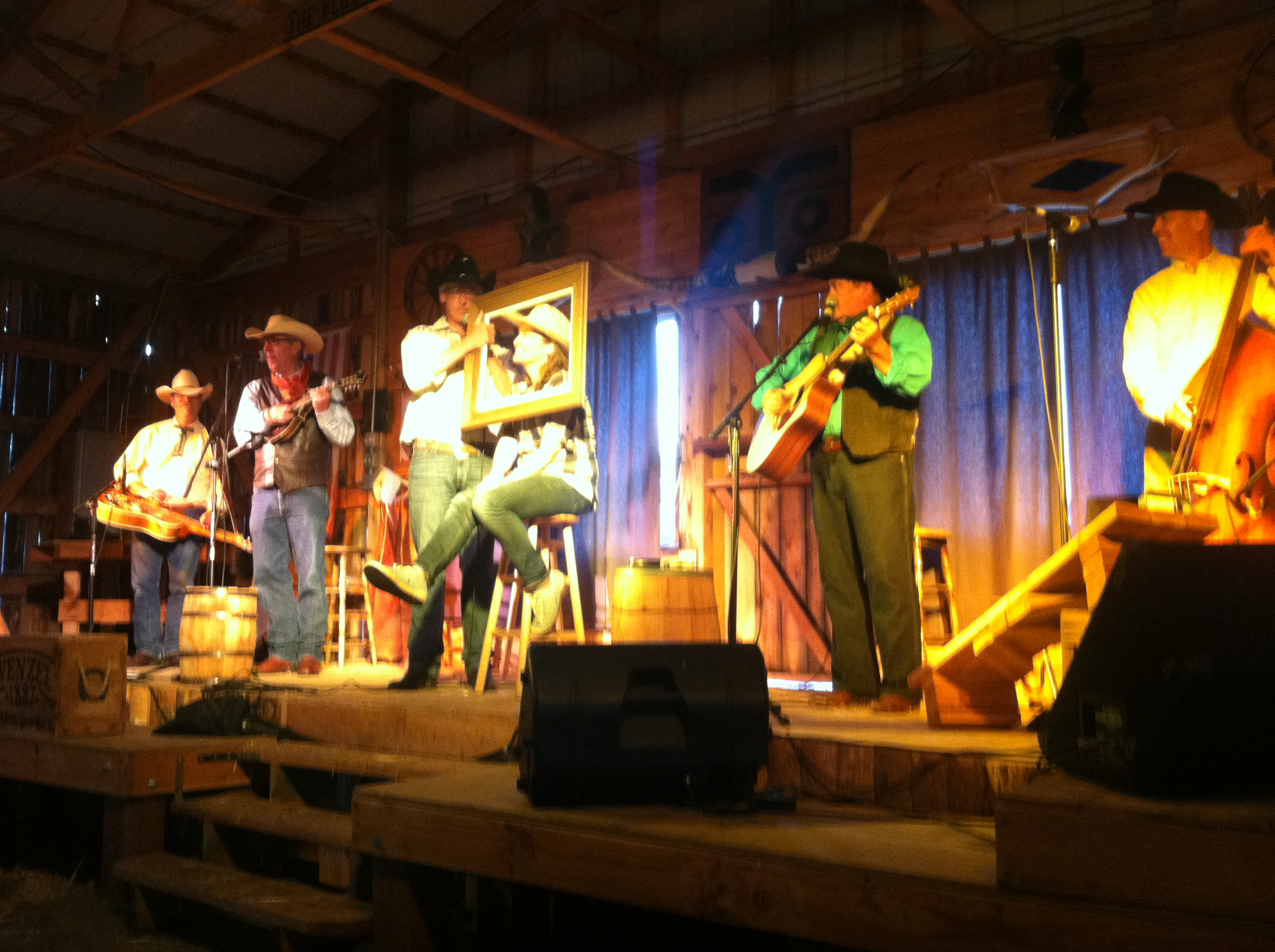 The horse-barn dinner show at Bit-O-Wyo Ranch