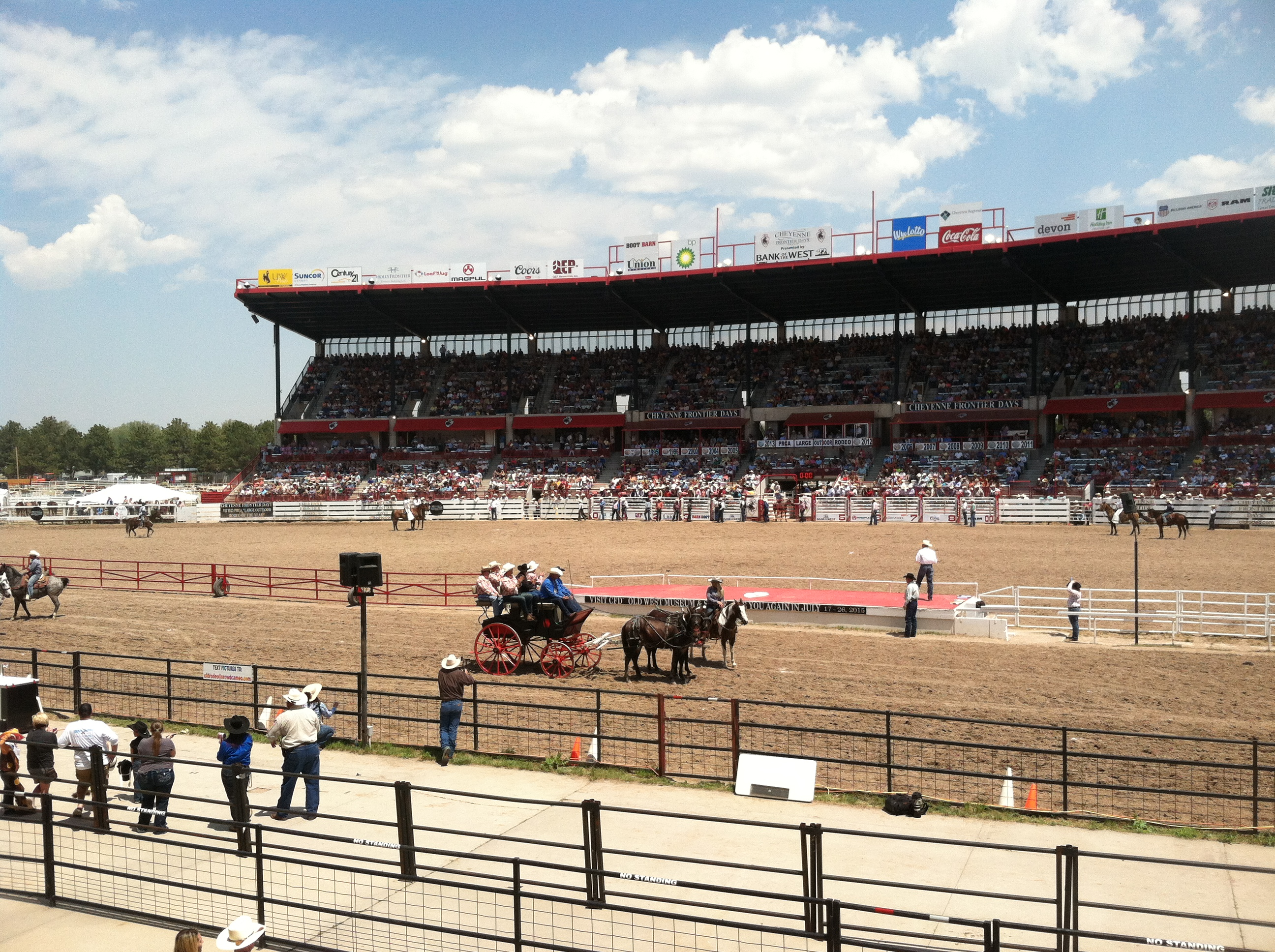 The rodeo in full swing