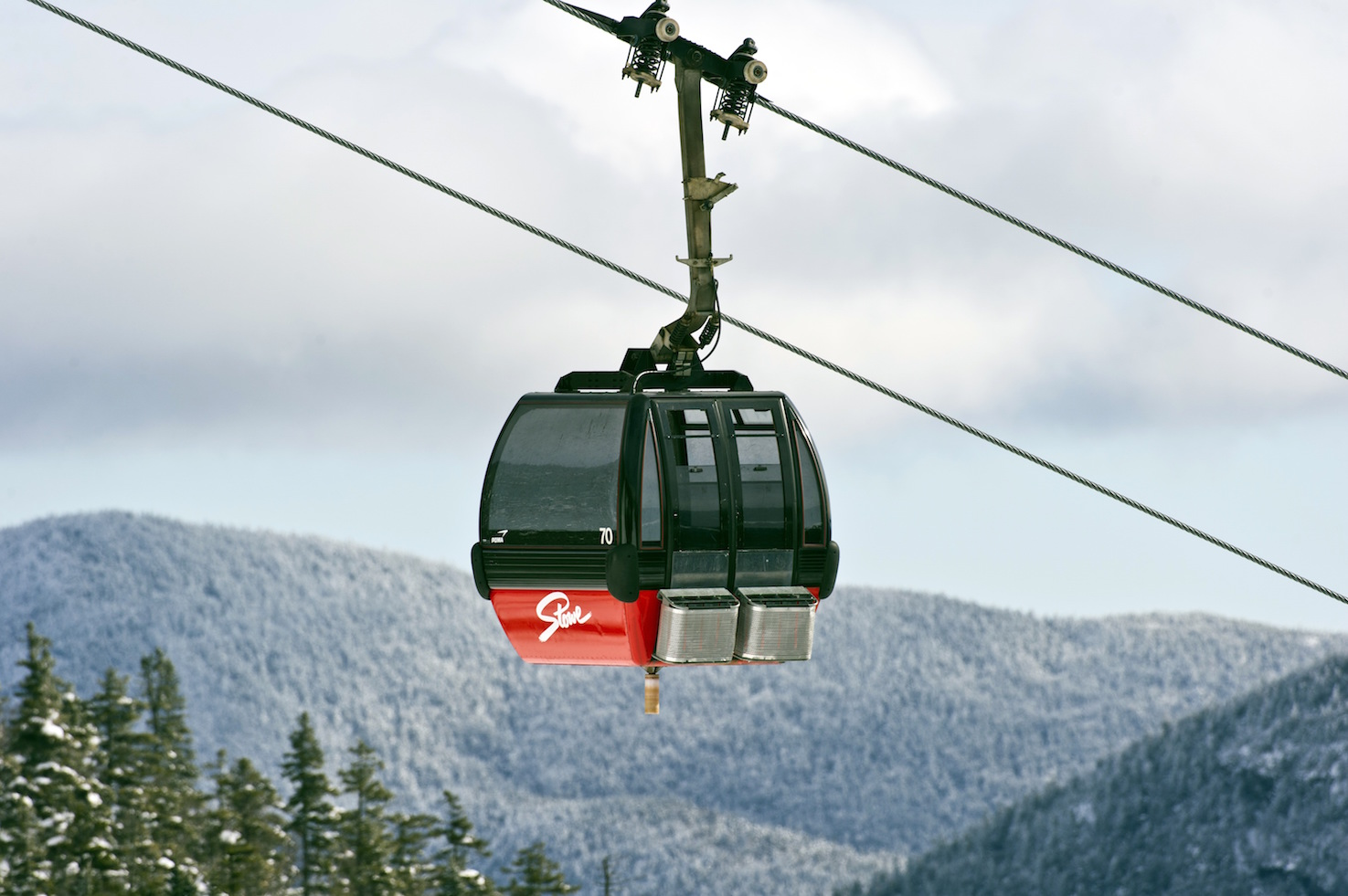 The gondolier at Stowe Mountain Resort