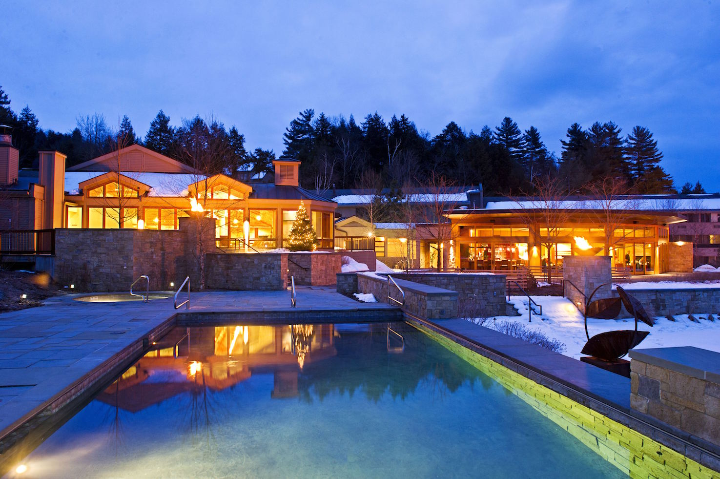 Topnotch Resort beckons with a modern design aesthetic.